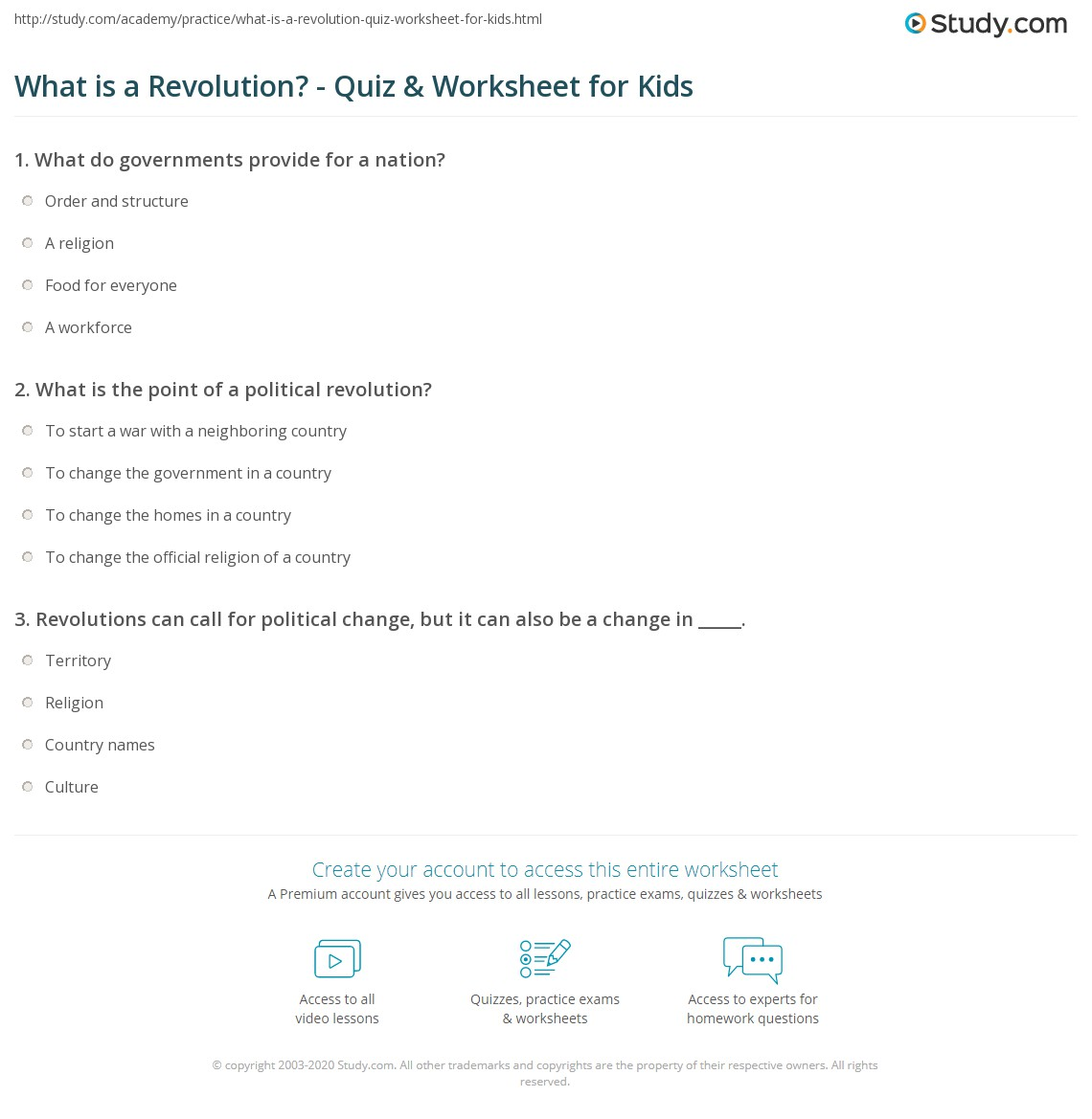 What is a revolution quiz worksheet for kids study print revolution definition lesson for kids worksheet ibookread