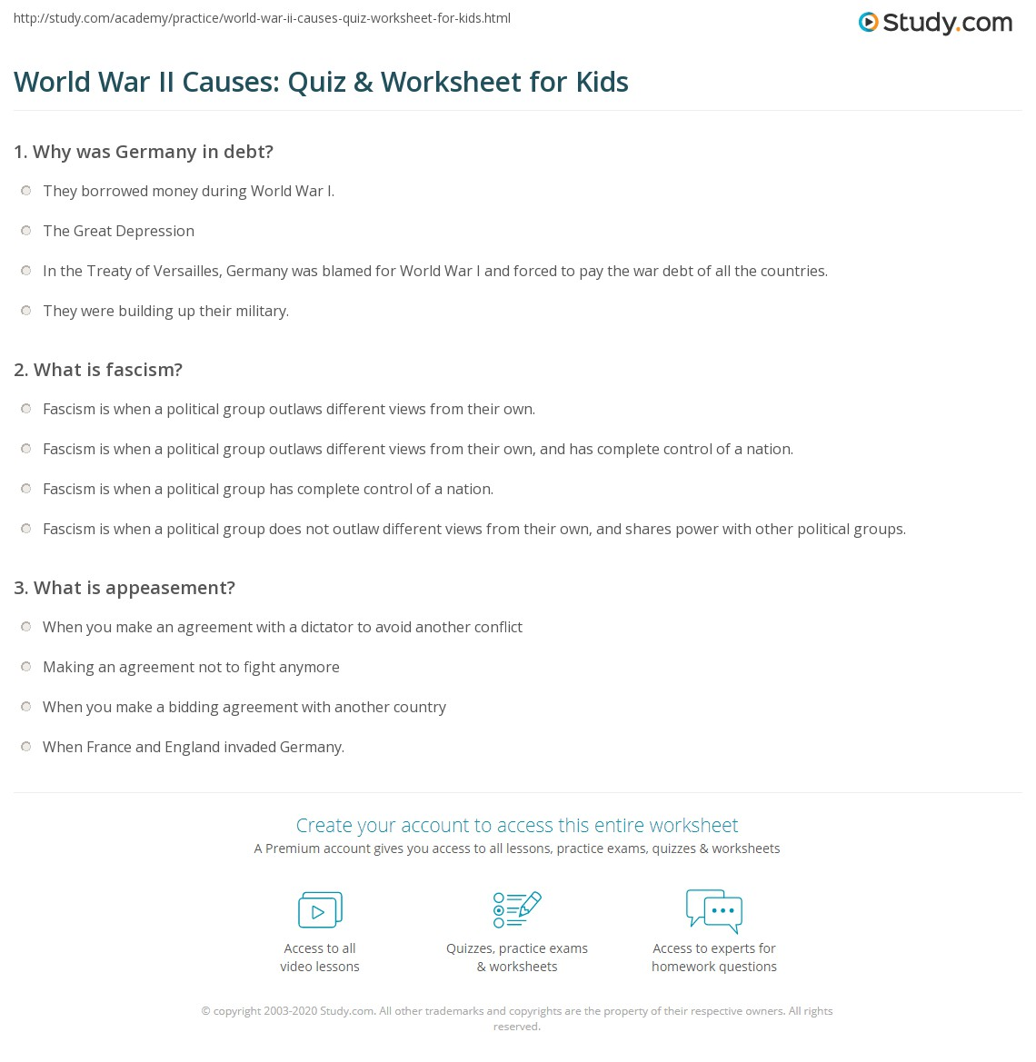 Großartig Wwi Worksheets For Th Grade The Best And Most ...