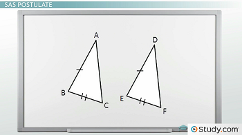 Two triangles, ABC and DEF
