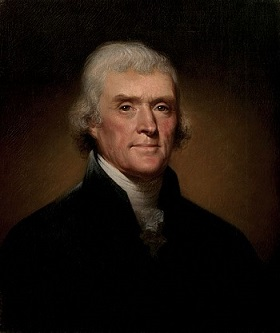 Jefferson presidential portrait