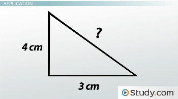 Right triangle with sides 4cm, 3cm, and ?