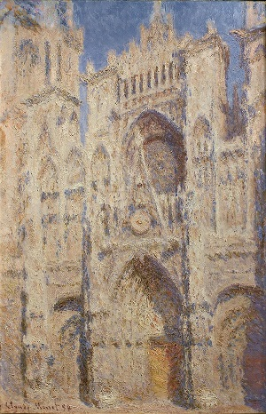 Claude Monet, Rouen Cathedral -- The Portal (Sunlight), 1894.