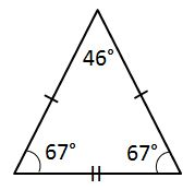 What type of triangle is pictured?