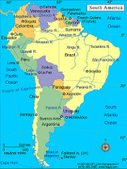 Map of Bolivia in South America