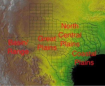 Physical Map Of Texas.Mapping The Physical Human Characteristics Of Texas Study Com