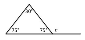 Solve For The Missing Exterior Angle, N.