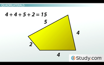 quadrilateral with perimeter of 15
