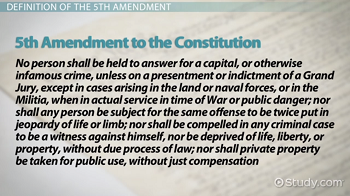 The text of the 5th Amendment