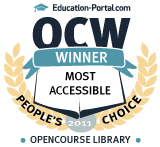 Education-Portal.com OpenCourseWare People's Choice Award Most Accessible Winner
