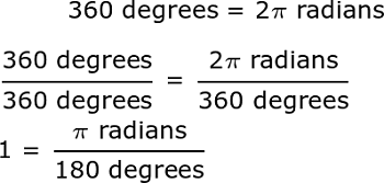 Converting 225 Degrees to Radians: How-To & Steps | Study.com