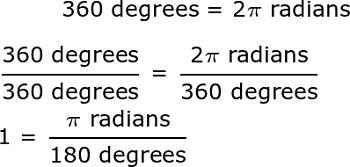 Convert Degrees To Radians Equation - Talkchannels