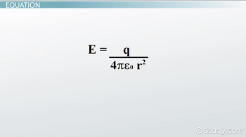 Equation for an electric field created by a point