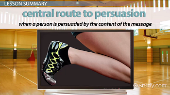 Central route to persuasion definition