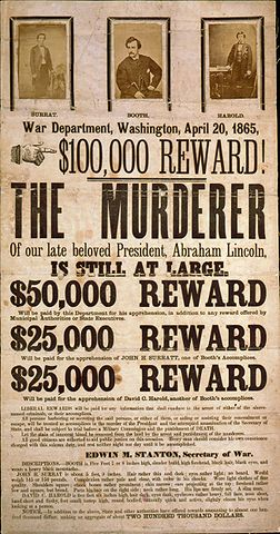 A Wanted Poster For John Wilkes Booth