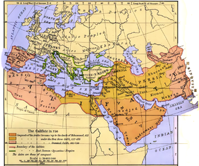 Map of Umayyad Empire