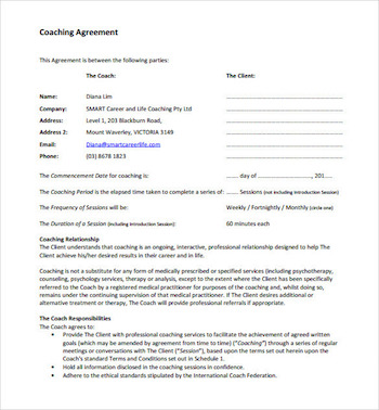 Coaching Agreements Development Templates Video Lesson