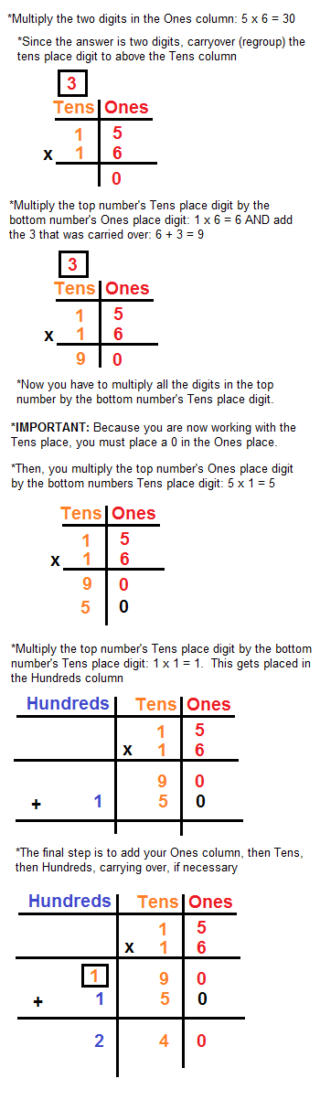 Multiplying By Two Three Digit Numbers Lesson For Kids