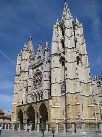 Exterior Of Leon Cathedral