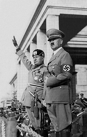 Adolf Hitler (right).