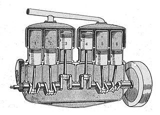 An engine with cylinders shown