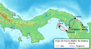 Vasco Nunez De Balboa Map Of Voyage Vasco Nunez de Balboa: Facts, Route & Timeline | Study.com