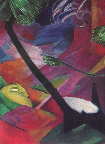 Franz Marc, Deer in the Woods II, 1912