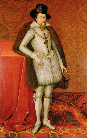 Image of Portrait of James I by John De Critz from Dulwich Picture Gallery