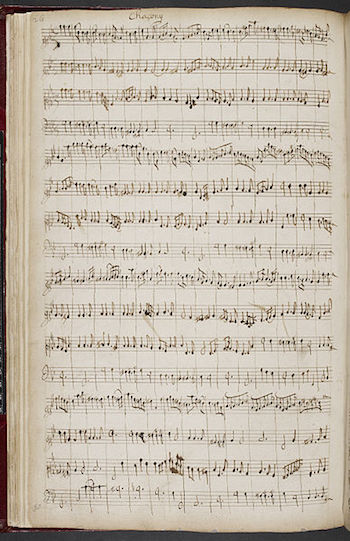 A Henry Purcell manuscript