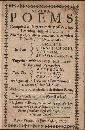 Title page of Anne Bradstreet