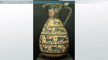 An example of Corinthian pottery