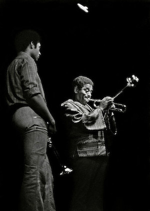 Jon Faddis and Dizzy Gillespie. Photo by Tom Marcello.