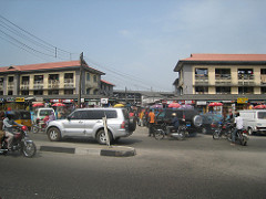 Busy street in Lagos