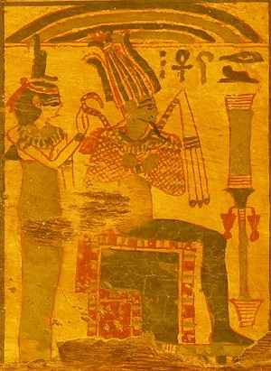 Painting of Isis and Osiris