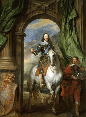 Painting of Charles I by Anthony Van Dyke from Royal Collection