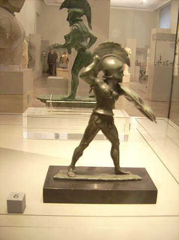 Statue of Spartan warrior