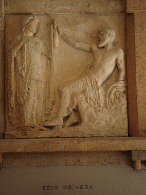Carving of Hera and Zeus