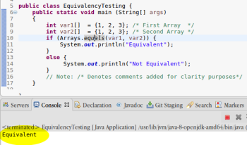 Equivalency Testing Using Arrays in Java | Study com