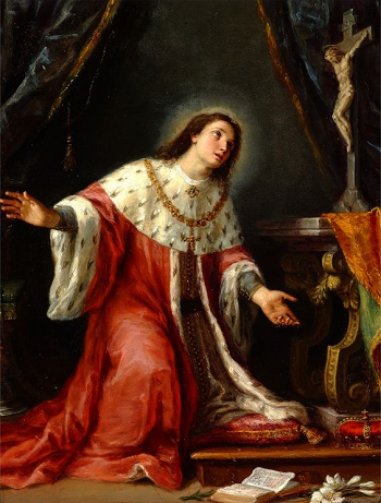 Painting of Casimir in Prayer
