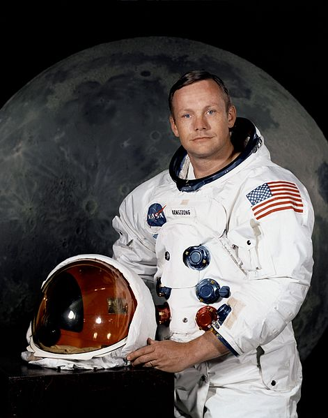 Neil Armstrong in his Apollo Spacesuit