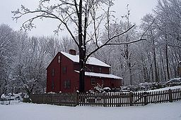 Old house on a wintry day