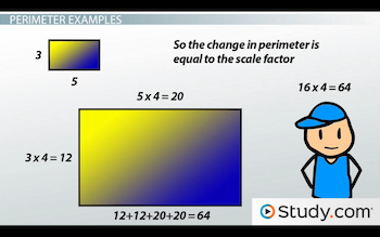 Applying scale factors to perimeter area and volume of similar two rectangles with scale factor 4 ccuart Images