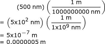 500nm To M How To Steps Study Com