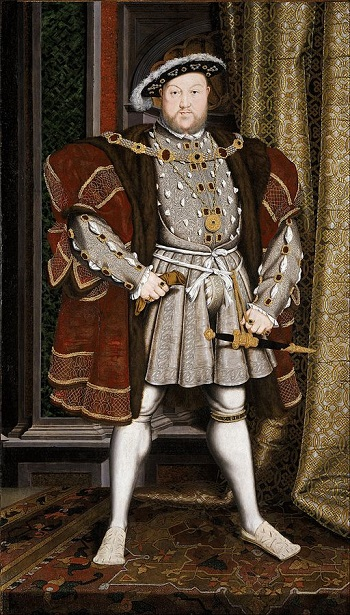 Portrait of Henry VIII After Whitehall Mural by Hans Holbein