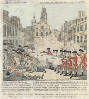 The engraving of Paul Revere