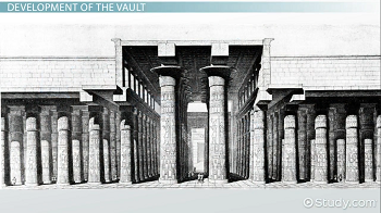 Sketch of Egyptian temple