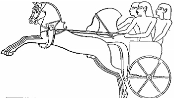 Depiction of a Hittite chariot