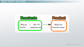 Reactant in Chemistry: Definition & Examples - Video & Lesson