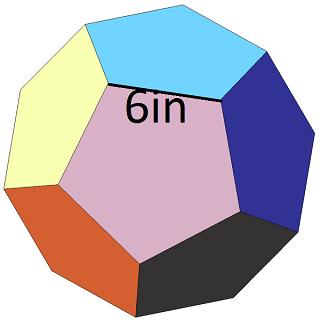 dodecahedron volume surface area formulas study com