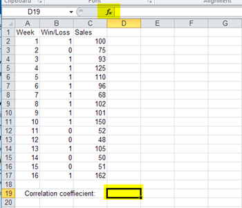 How to Calculate the Correlation Coefficient in Excel