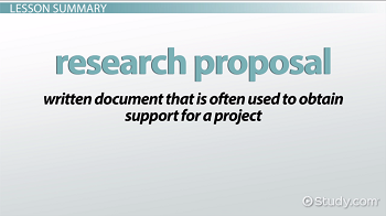 Definition of a research proposal